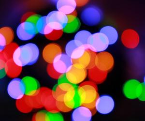 bokeh, christmas, and christmas lights image