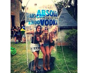 vodka, friends, and absolut image
