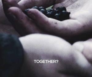 together, hunger games, and Jennifer Lawrence image