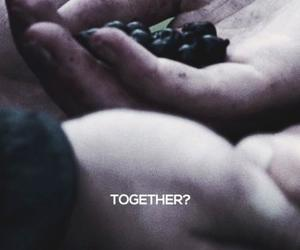 couple, togheter, and hunger games image