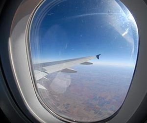 fly, sky, and travel image