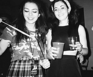 black and white, party, and marina and the diamonds image