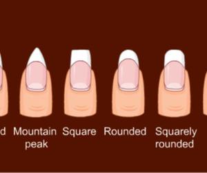 nail, shape, and nail's shapes image