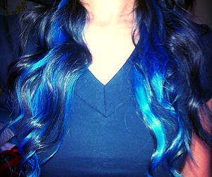 blue, ombre, and color image