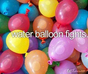 balloons, water, and fight image