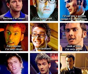 david tennant, clever, and doctor who image