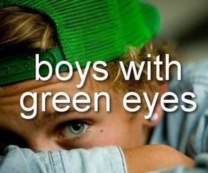 boy, green, and eyes image