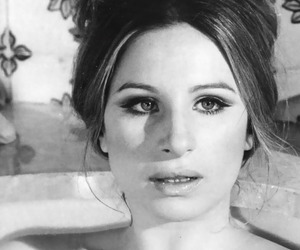 actress, barbra streisand, and black and white image
