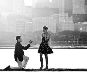 girl, proposal, and sweet image