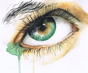 eye, green, and drawing image