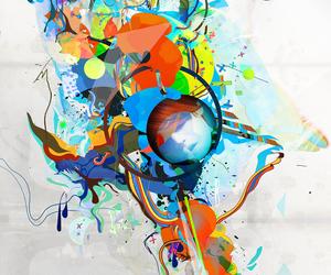 abstract, digital art, and deviantart image