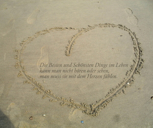 heart, herz, and sand image