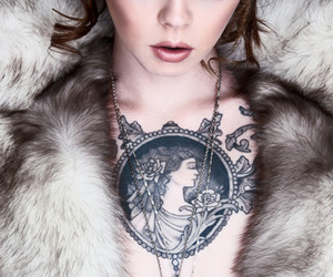tattoo, makeup, and woman image