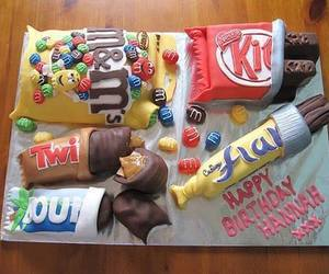 cake, Twix, and chocolate image