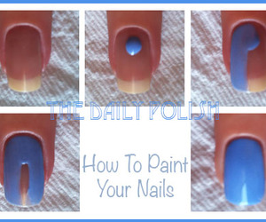 nails, girls, and paint image