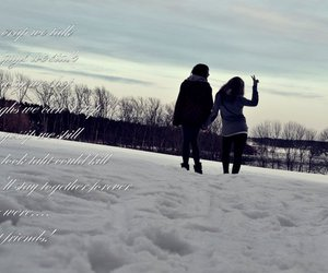 snow, bestfriends, and text image