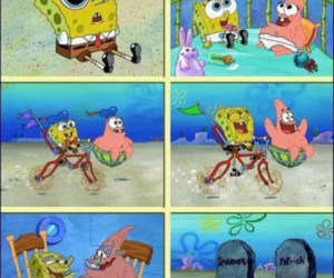 funny, it, and spongebob image