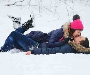couple, winter, and love image
