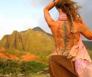 tattoo, hippie, and dreads image