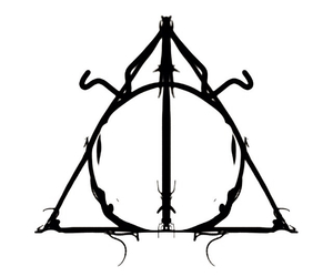 harry potter, deathly hollow, and deathly hallow image
