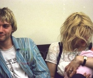 Courtney Love, kurt cobain, and grunge image