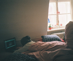 bed, indie, and photography image