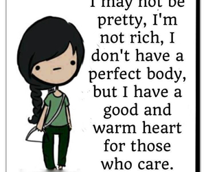 pretty, quote, and heart image