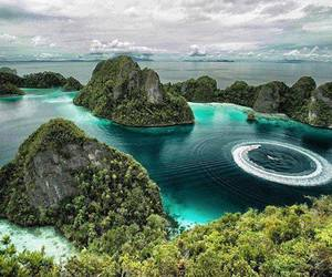 indonesia, blue, and sea image