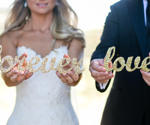 love, forever, and wedding image