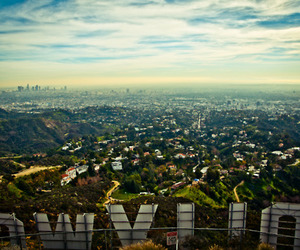 hollywood, city, and sky image
