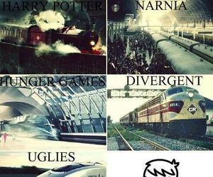 harry potter, divergent, and narnia image