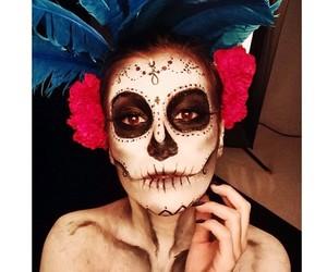 calavera, girl, and makeup image