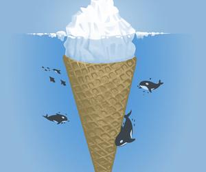 ice cream, whale, and iceberg image