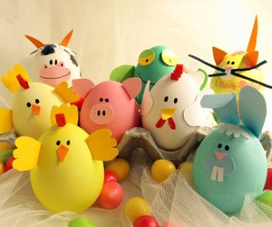 bunny, easter, and easter eggs image