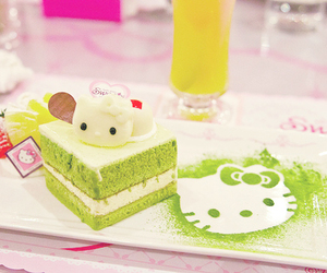 hello kitty, cake, and food image