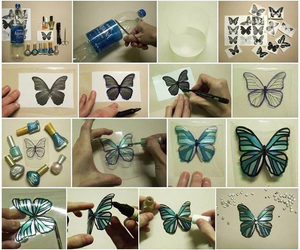 butterfly, plastic, and love image