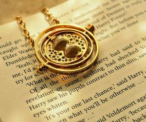 harry potter, book, and time turner image