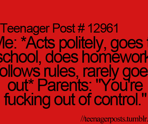 parents, teenager post, and school image