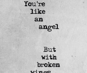 angel, broken, and wings image