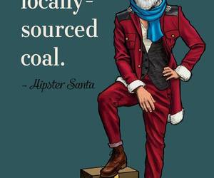 hipster, funny, and santa image