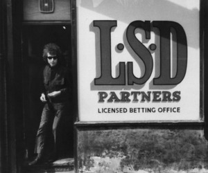bob dylan, lsd, and black and white image