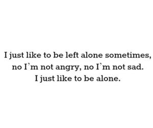 alone, angry, and quote image