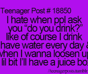 drink and teenager post image