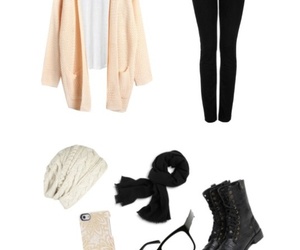 cardigan, clothes, and winter image