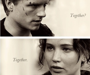 together, katniss everdeen, and the hunger games image