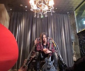 aoi, rock and read, and guitar image