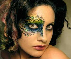 eye makeup, eye art, and face paint image