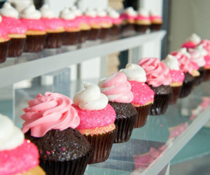 cake, cupcakes, and glitter image