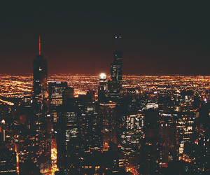 chicago, night, and photography image