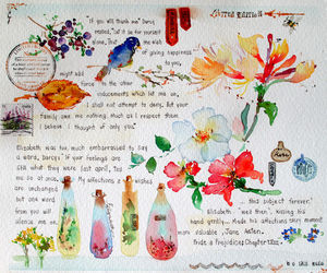 watercolor and flowers image